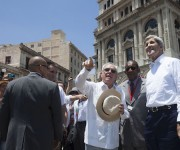 Kerry en La Habana Vieja. Foto: Ismael Francisco/ Cubadebate