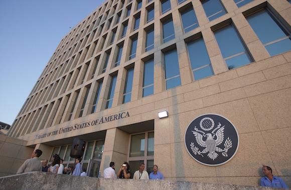 Embajada de EEUU en La Habana. Foto: Ismael Francisco/ Cubadebate