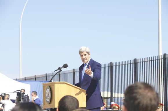 Kerry durante su visita a La Habana el pasado año. Foto. Ismael Francisco/Cubadebate.