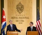 El Secretario de Estado John Kerry y el Canciller cubano Bruno Rodríguez. Foto: Pablo Martínez/ AP