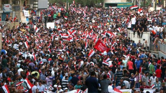 protestas contr al corrupción en iraq