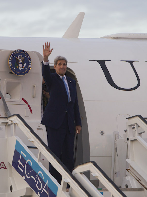 Kerry regresa a Washington. Foto: Ismael Francisco/ Cubadebate