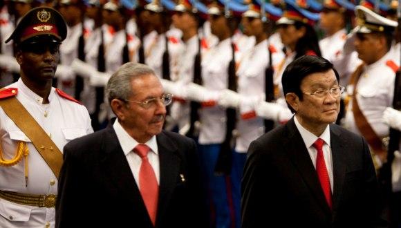 Recibió Raúl Castro en La Habana al presidente de Viet Nam
