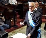 Alejandro Maldonado, presidente interino de Guatemala. Foto: AFP