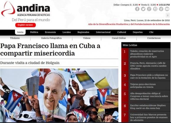 Andina, Agencia Peruana de Noticias