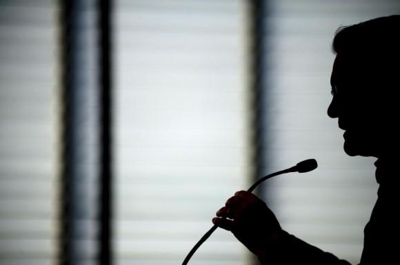 El presidente Artur Mas, en una rueda de prensa. Foto: Jorge Guerrero / AFP.
