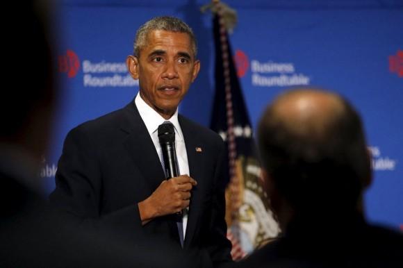 Barack Obama durante su encuentro con empresarios en Washington el 16 de septiembre de 2015. Foto: Reuters