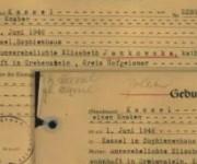 Certificado que prueba que los mellizos nacieron en la ciudad alemana de Kassel.