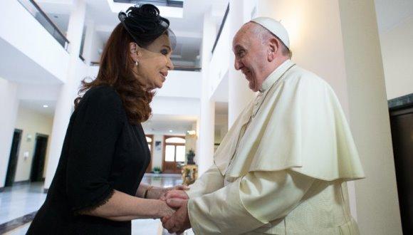 Cristina Fernández comenta sobre su presencia en misa de Papa Francisco. Foto: Tomada de Radio Vibra
