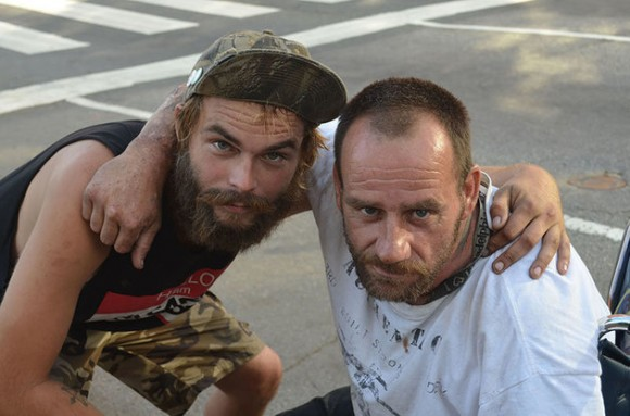 Dan Messing, izquierda, y Joe McGraw son homeless en Filadelfia. Foto: Religion News Service/ Alex Jacobi.