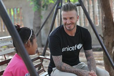 David Beckham. Foto: UNICEF
