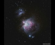 David Tolliday con esta imagen de la nebulosa Orión, ganó el premio al mejor principiante