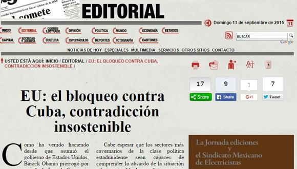 Editorial-La Jornada-Cuba-Bloqueo