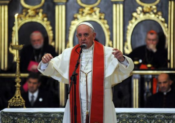 El Papa Francisco en la Catedral de La Habana. Foto Abel Padrón AIN