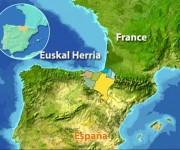 En la zona señalada se encuentran los países vascos de España y Francia.
