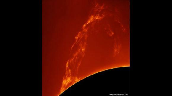 Esta imagen de Paolo Porcellana obtuvo el primer premio en el rubro Nuestro Sol.