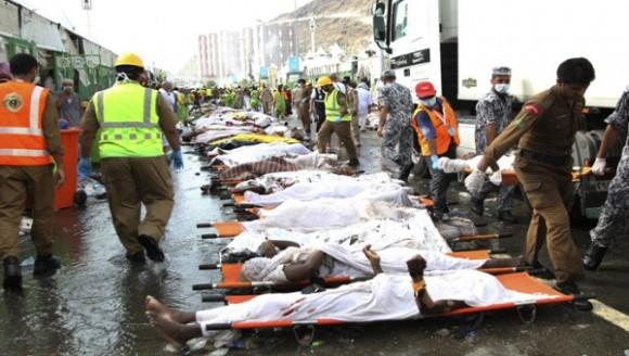 Los muertos por la estampida en La Meca ascendieron a mil 300.  Foto: EFE.