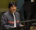 Evo Morales ante la ONU, hoy.