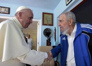Encuentro entre Fidel Castro y el Papa Francisco