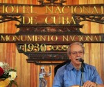 El teólogo brasileño Frei Betto, ofrece conferencia de prensa sobre la visita pastoral del Papa Francisco a Cuba, en el Hotel Nacional,  en La Habana, el 19 de septiembre de 2015.   AIN  FOTO/Jorge LEGAÑOA ALONSO