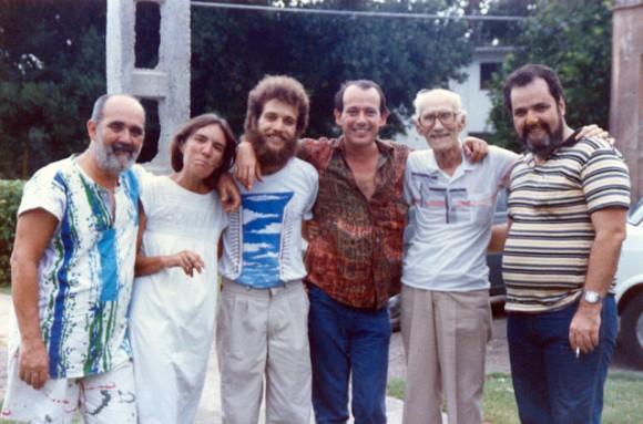 Germán Piniella, Mariana Rivas, Joel Suárez, Silvio Rodríguez, German Pinelli, Johnny Wildford. Foto: Segunda Cita