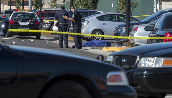 Imágenes de la escena del tiroteo en California. Foto: AP