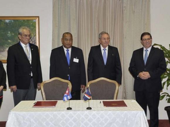 Este domingo se celebró la ceremonia de establecimiento de relaciones diplomáticas con Islas Marshall.