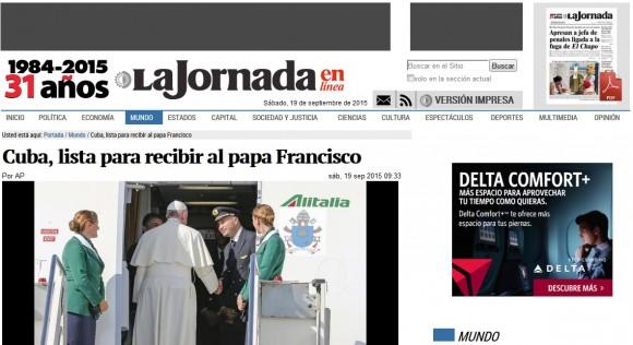 La Jornada, México Papa Francisco Cuba