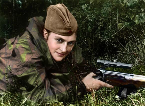 La sargento Lyudmilla Pavlichenko (1916 - 1974). Foto: Aredrover.com