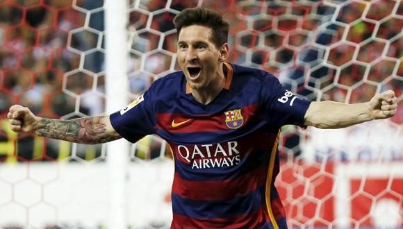 Messi festeja el gol que dio la victoria al Barça en el Calderón. Foto: Javier Barbancho / AS