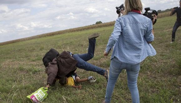 La periodista fue despedida tras el incidente. Foto: Reuters.