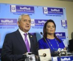 Otto Pérez Molina y Roxana Baldetti. Foto: Tomada de www.prensalibre.com