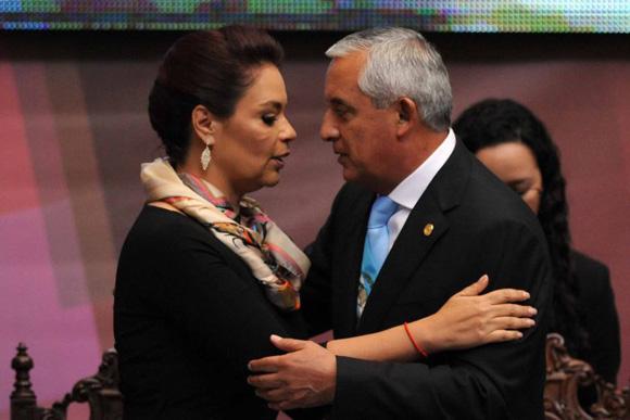 Otto Pérez Molina y Roxana Baldetti. Foto: Tomada de www.republicagt.com