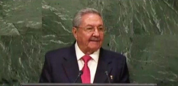 Raúl en la ONU. Foto: Captura de video.