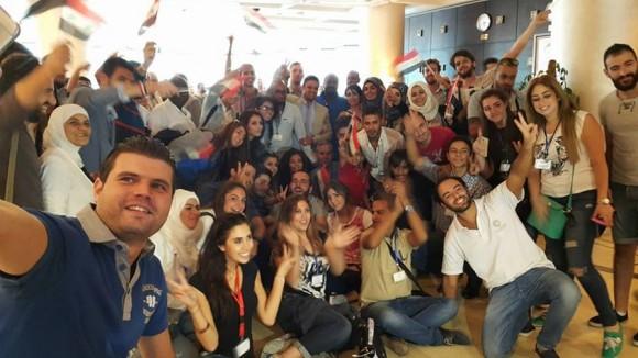 Conferencia Internacional de la Juventud en Siria. Septiembre de 2015. Foto: Facebook.