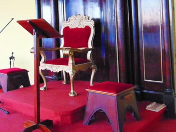 Trono papal en Cuba