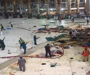 Caída de grúa en la Mezquita Al-Haram en la ciudad saudí de La Meca 11 de septiembre de 2015.
