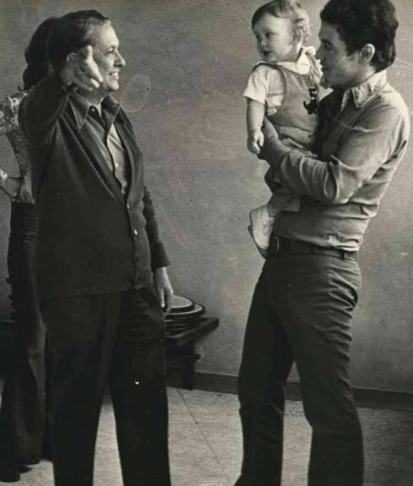 Cintio, José Maria y Adrián Vitier. Foto: Facebook de José María Vitier