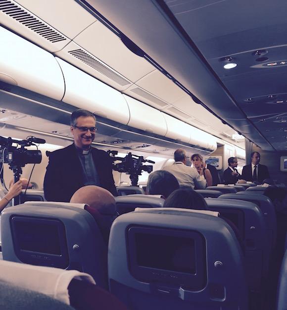 contactos vaticanos en el avion