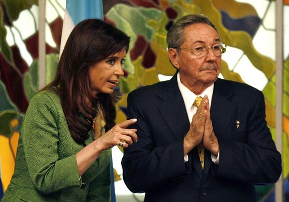 Recibió Raúl Castro a la Presidenta de Argentina