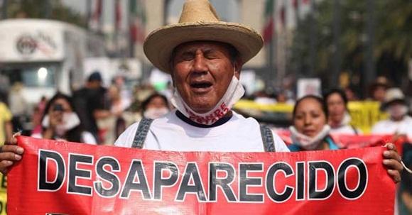 Registran unas 26 mil personas como desaparecidas en México.