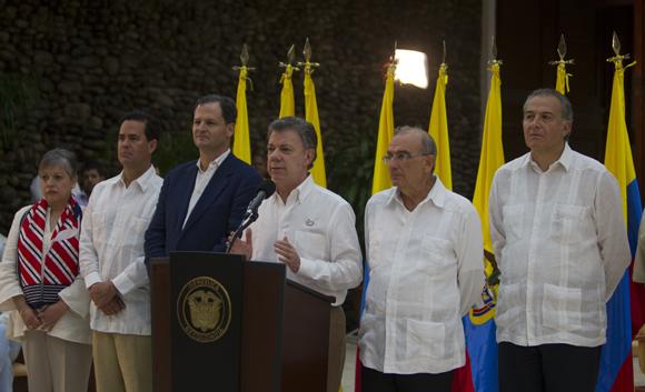 Declaraciones a la prensa de Juan Manuel Santos. Foto: Ladyrene Pérez/ Cubadebate.