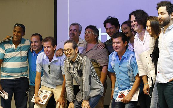 Una gran parte de los músicos que actuarrán asistió al encuentro con la prensa. Foto: Paola/ Cubadebate.