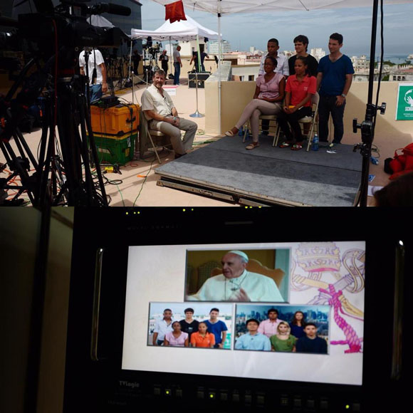 Jóvenes cubanos dialogaron con el Papa Francisco