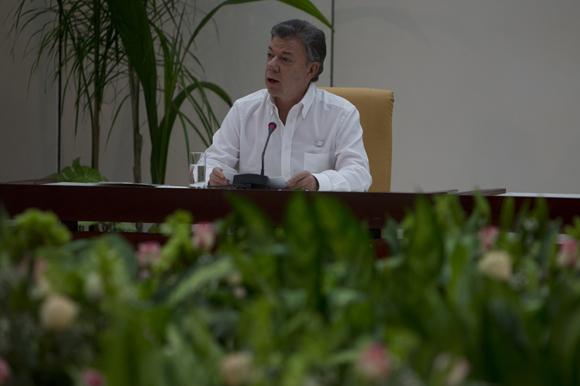 Intervención de Juan Manuel Santos, presidente de la República de Colombia. Foto: Ladyrene Pérez/ Cubadebate.
