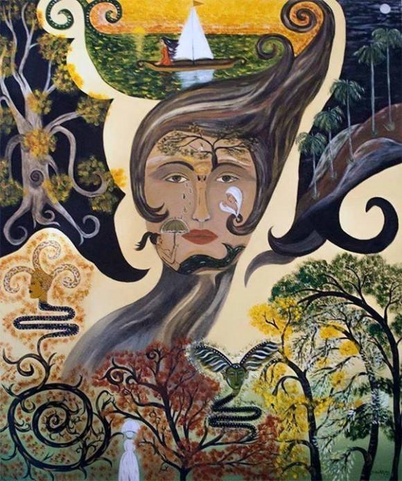 """""""Las cosas imposibles"""", de Silvia Rodríguez Rivero. Acrílico sobre lienzo, 111 X 150 cm."""