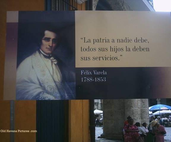 Un mural en La Habana Vieja recuerda a Félix Varela. Foto: Old Havana Pictures.