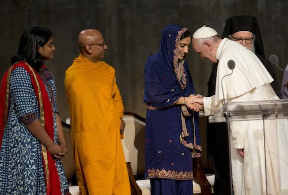 El Papa en la Ceremonia Interreligiosa en el Memoria 9/11. Foto: Alessandra Tarantino/ AP