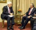 Raúl conversó con Thomas Donohue, Presidente de la Cámara de Comercio y otros empresarios estadounidenese. Foto: Estudios Revolución