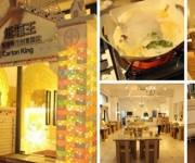 Shanghai inauguró el Carton King, un restaurante hecho de cartón.